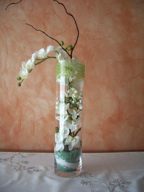 Ref 1828 Vase Haut Et Orchides BLOG DE NOUETSFLEURS