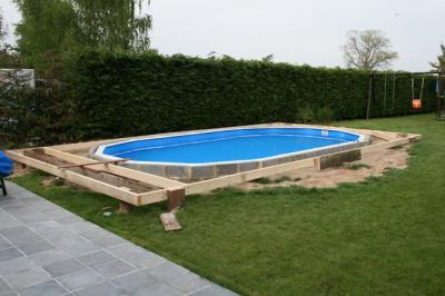 Dbut terrasse     Construction piscine GRE