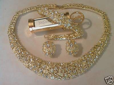 parure bijoux pas cher or