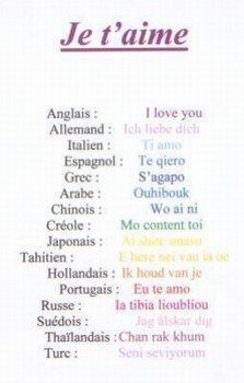 Je T Aime En Plusieur Langue : plusieur, langue, Toujour, Langues, Popstare