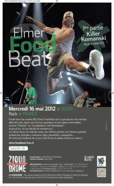 Elmer Food Beat La Grosse Jocelyne : elmer, grosse, jocelyne, Elmer, Beat,, 2012,, Ziquodrome, Compiègne, Concerts