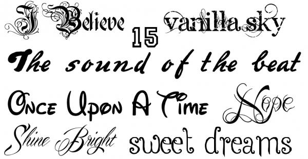 Berühmt Tatouages301: style d ecriture tatouage HX45