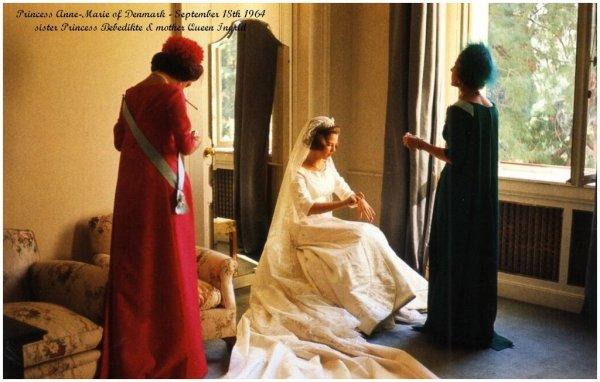 The Wedding Dress Princess Anne Marie Of Denmark Queen