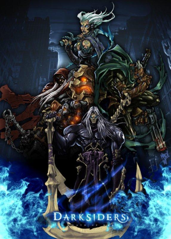 4 Cavaliers De L'apocalypse Darksiders : cavaliers, l'apocalypse, darksiders, Cavaliers, L'apocalypse, Darksiders, J'aime