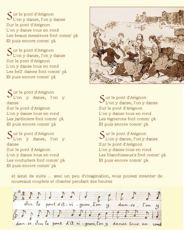 Paroles Sur le pont d'Avignon par Chansons Enfantines