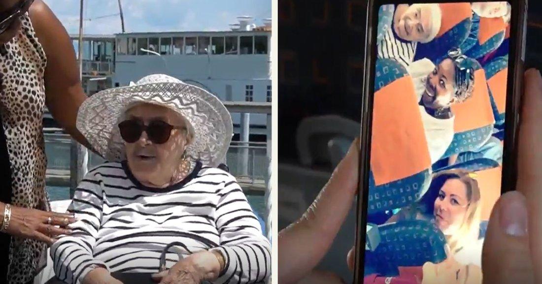 untitled 1 33.jpg?resize=1200,630 - Le rêve d'une femme de 95 ans s'est réalisé. Elle a pris un avion pour la première fois!