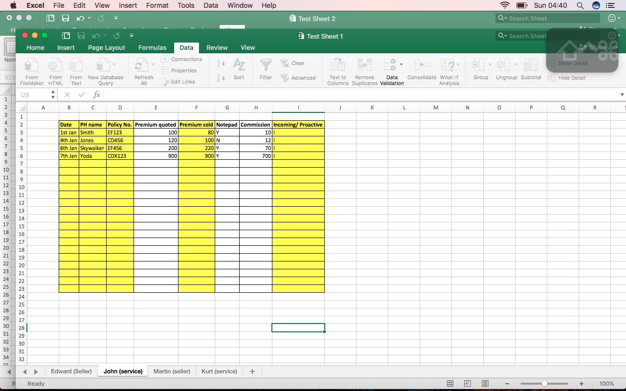 Transfer Bespoke Data To Different Workbooks