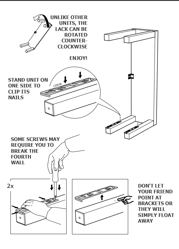 Filling In An IKEA Manual's Missing Words