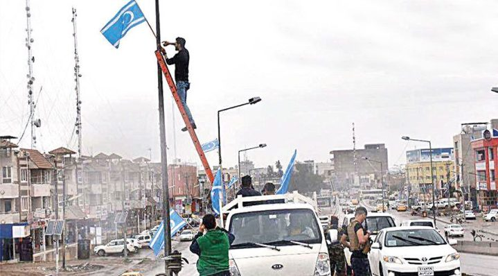 Türkmenler, Kerkük'ü bayraklarıyla donattı