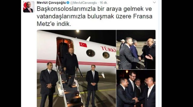 Dışişleri Bakanı Çavuşoğlu, Fransa'da