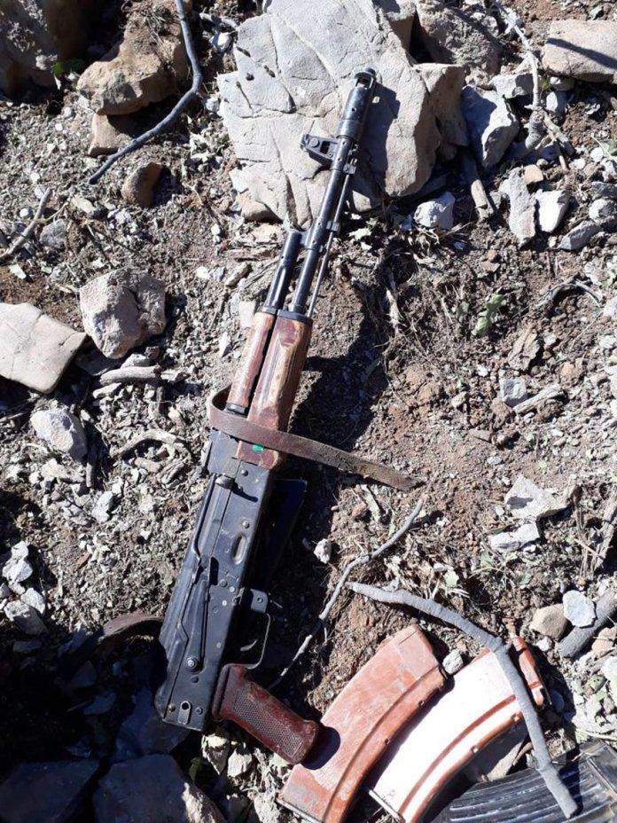 Etkisiz hale getirilen PKK'lıların yanı sıra birçok mühimmat da ele geçirildi. DHA