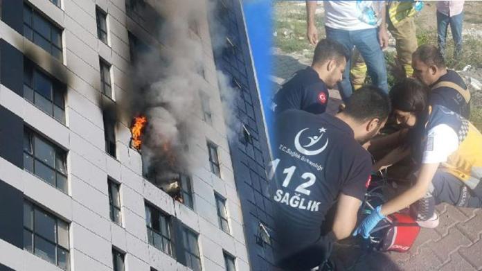 Ümraniye'de 16 katlı binada yangın!