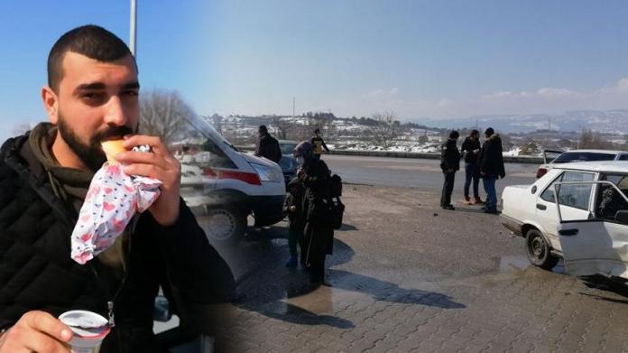 3 kişinin yaralandığı kazada polisi ekmek arası köfte yiyerek beklediler
