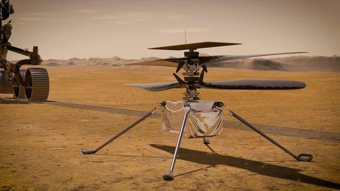 NASA'nın helikopteri Ingenuity ilk uçuşuna hazırlanıyor