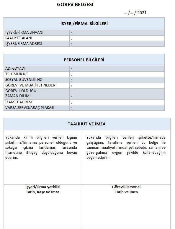 Çalışma izin belgesi nasıl hazırlanır, nasıl alınır? İşte görev belgesi örneği… 13
