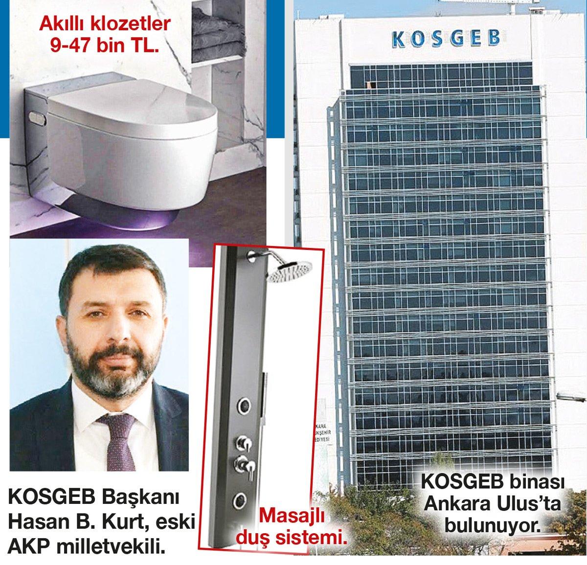 Bürokrata masajlı duş ve akıllı klozet