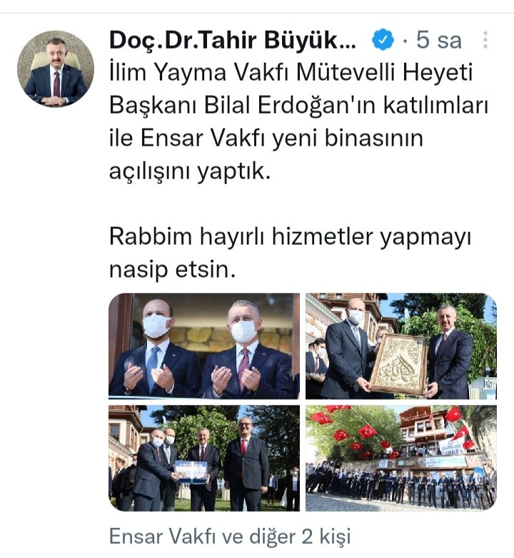 Bilal Erdoğan, AKP'li belediyenin Ensar Vakfı'na verdiği tarihi köşkün açılışını yaptı