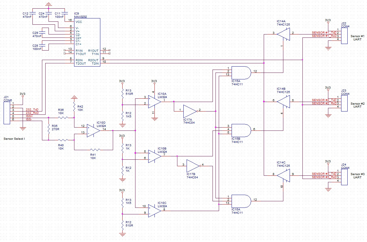 Multiple Uart Output Sensors On One Serial Port