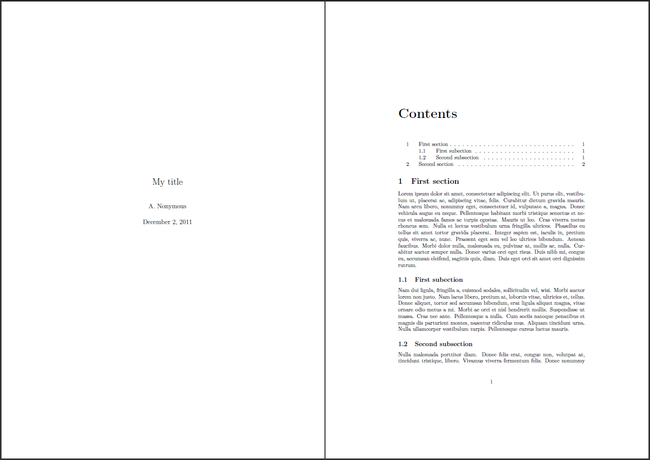 How Can I Get A Title Page With The Latex Article Class