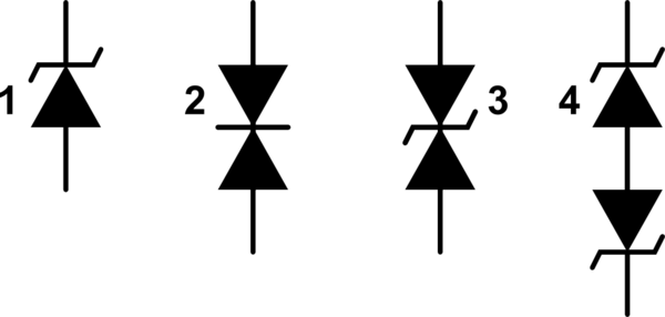 Differences between TVS diode and Zener diodes, in