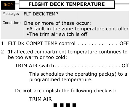 If the cabin temperature controller does not function