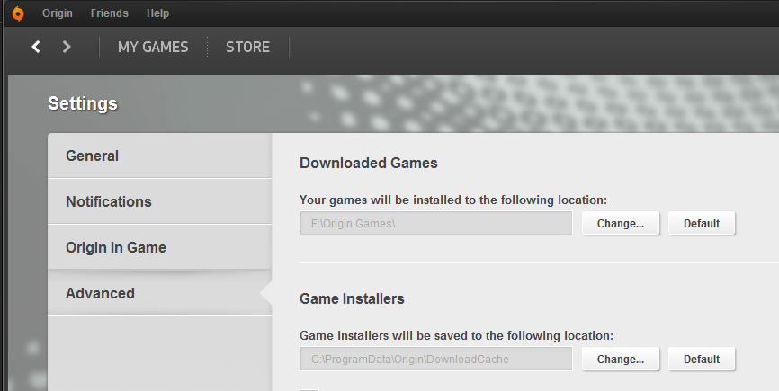 Origin Is It Possible To Install Games To Different Hard
