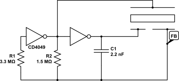 Determining frequency of self-drive piezo oscillator