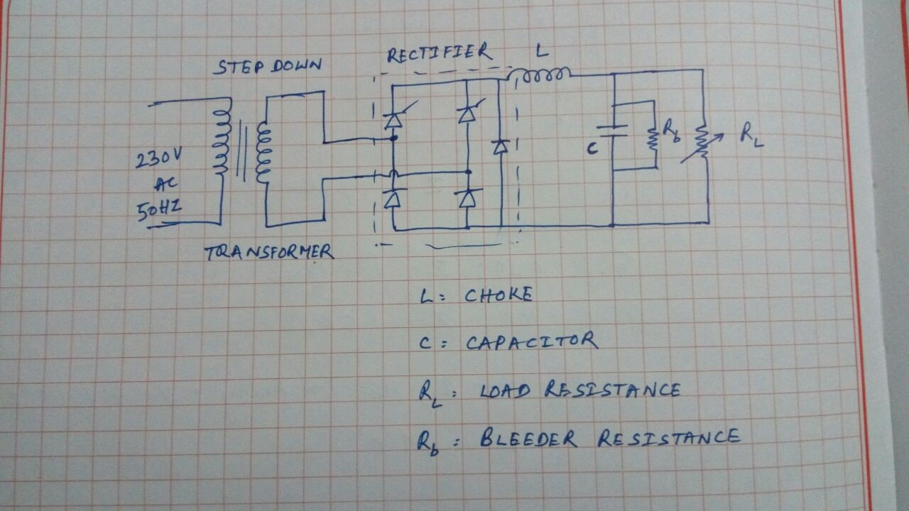 Singlephase Full Wave Rectifier Filter Circuit Basiccircuit