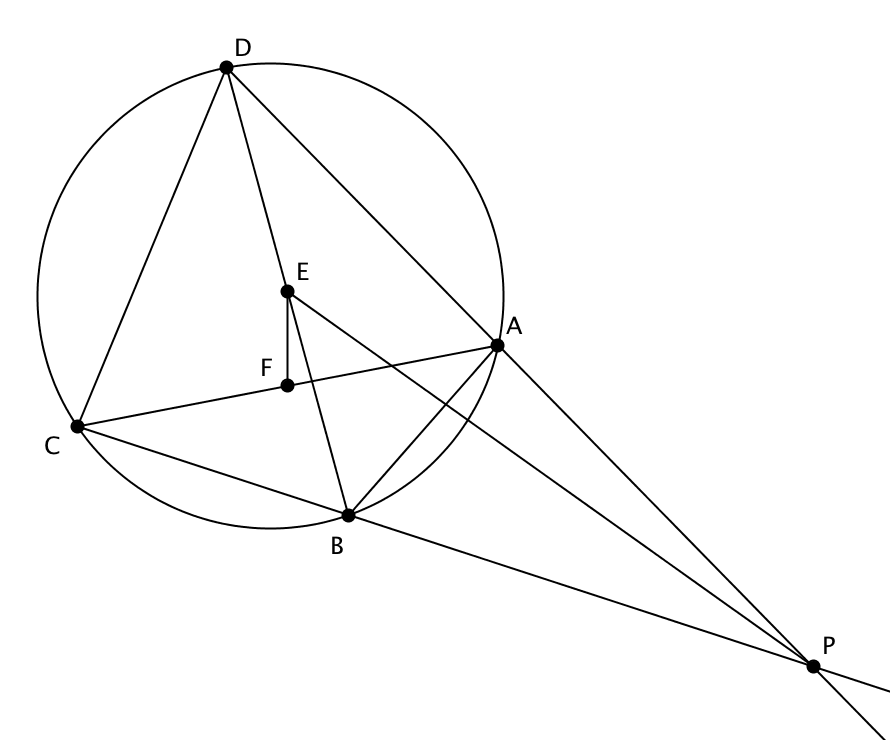Find the angle made by the intersection point and