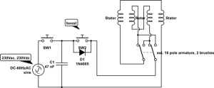 power supply  What is the type of this motor? Is it