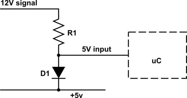 How can I use a 12 V input on a digital Arduino pin