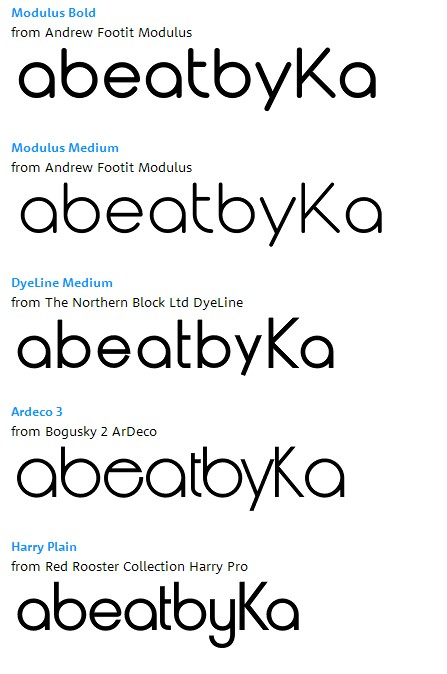 Which geometric, rounded, Bauhaus style fonts are similar