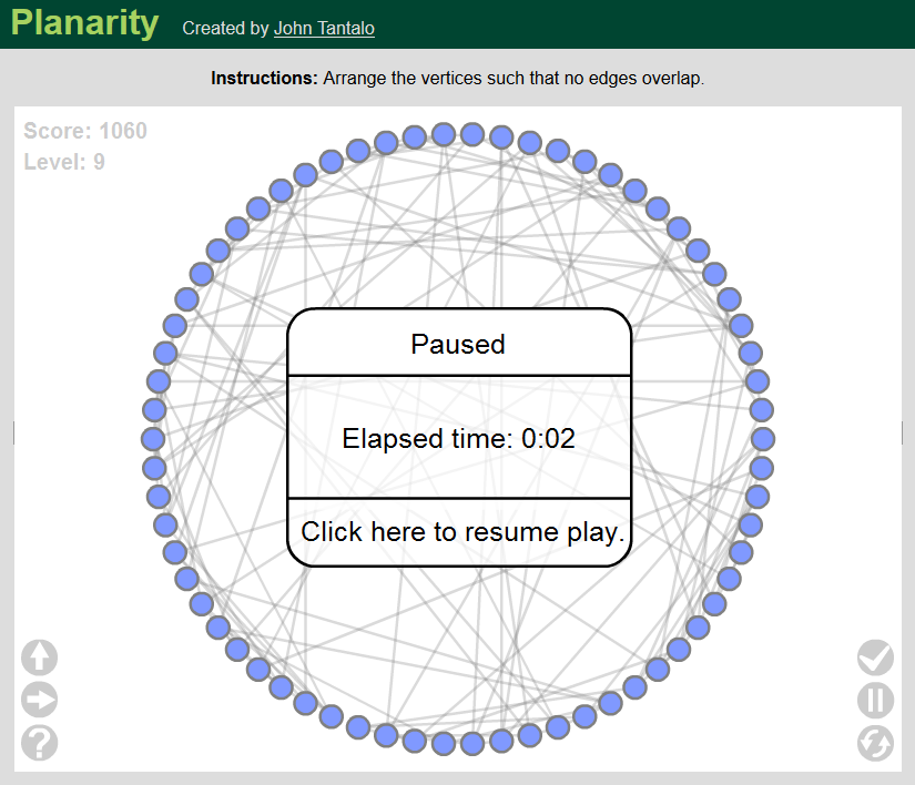 graph theory  Proving if planarity puzzle is planar