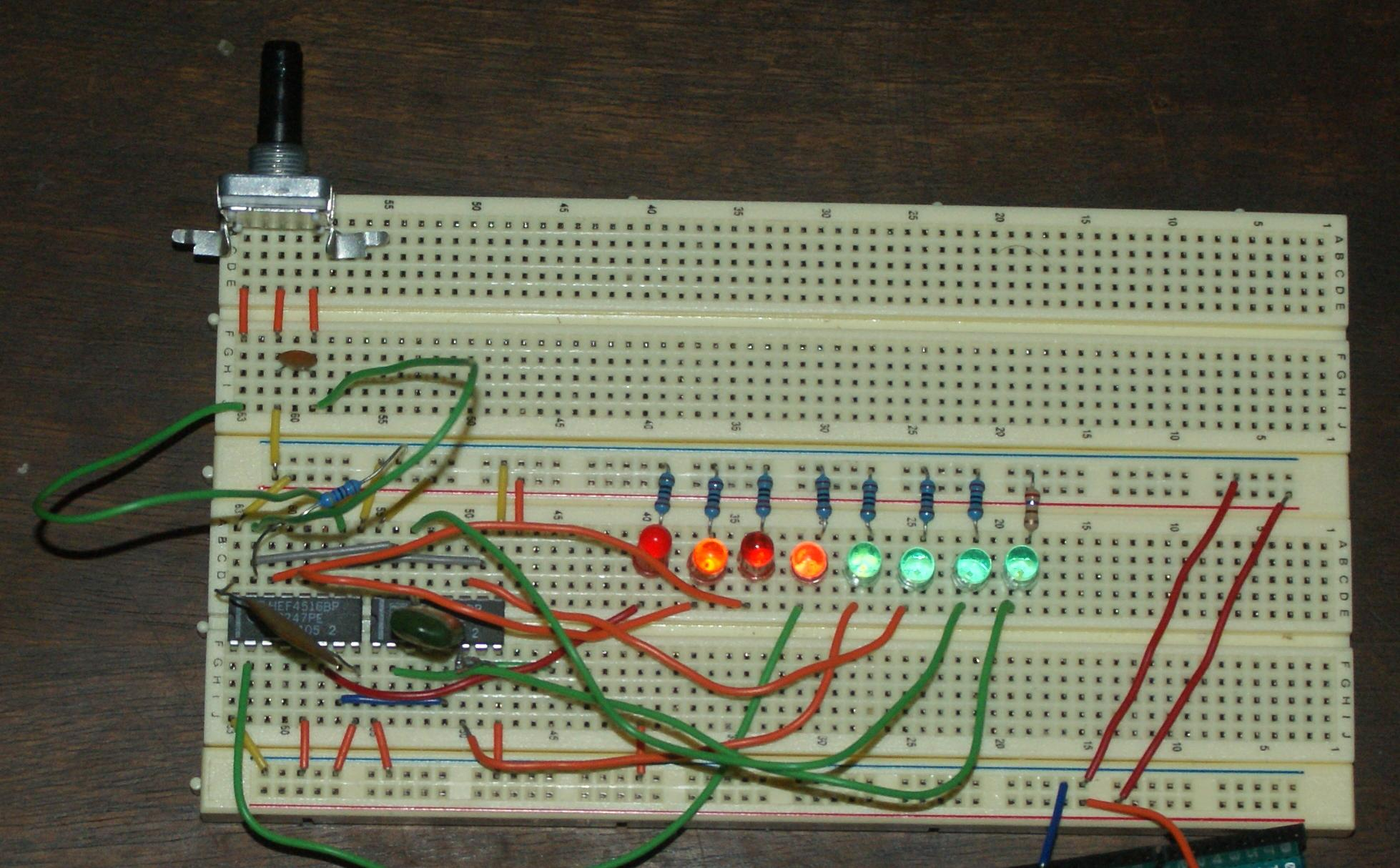 integrated circuit  8bit binary UD counter with rotary