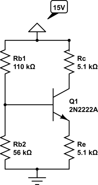 How to measure DC Operating Point of a simple transistor