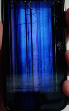 Iphone X Cracked Screen Wallpaper Iphone Vertical Colored Lines On Broken Screen Is It
