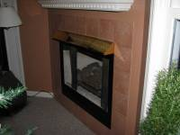 How can I prevent the mantel above a gas fireplace from ...