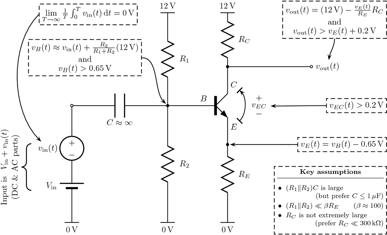 hight resolution of how do you calculate the voltage output of a common emitter amplifier