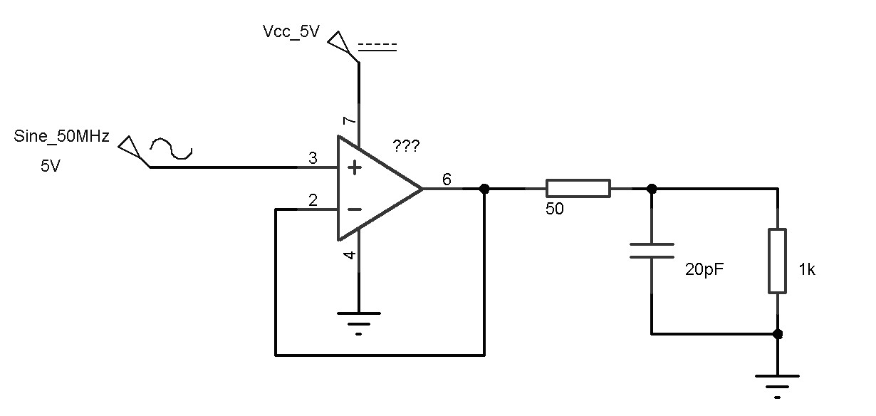 Voltage Follower With A RF Signal