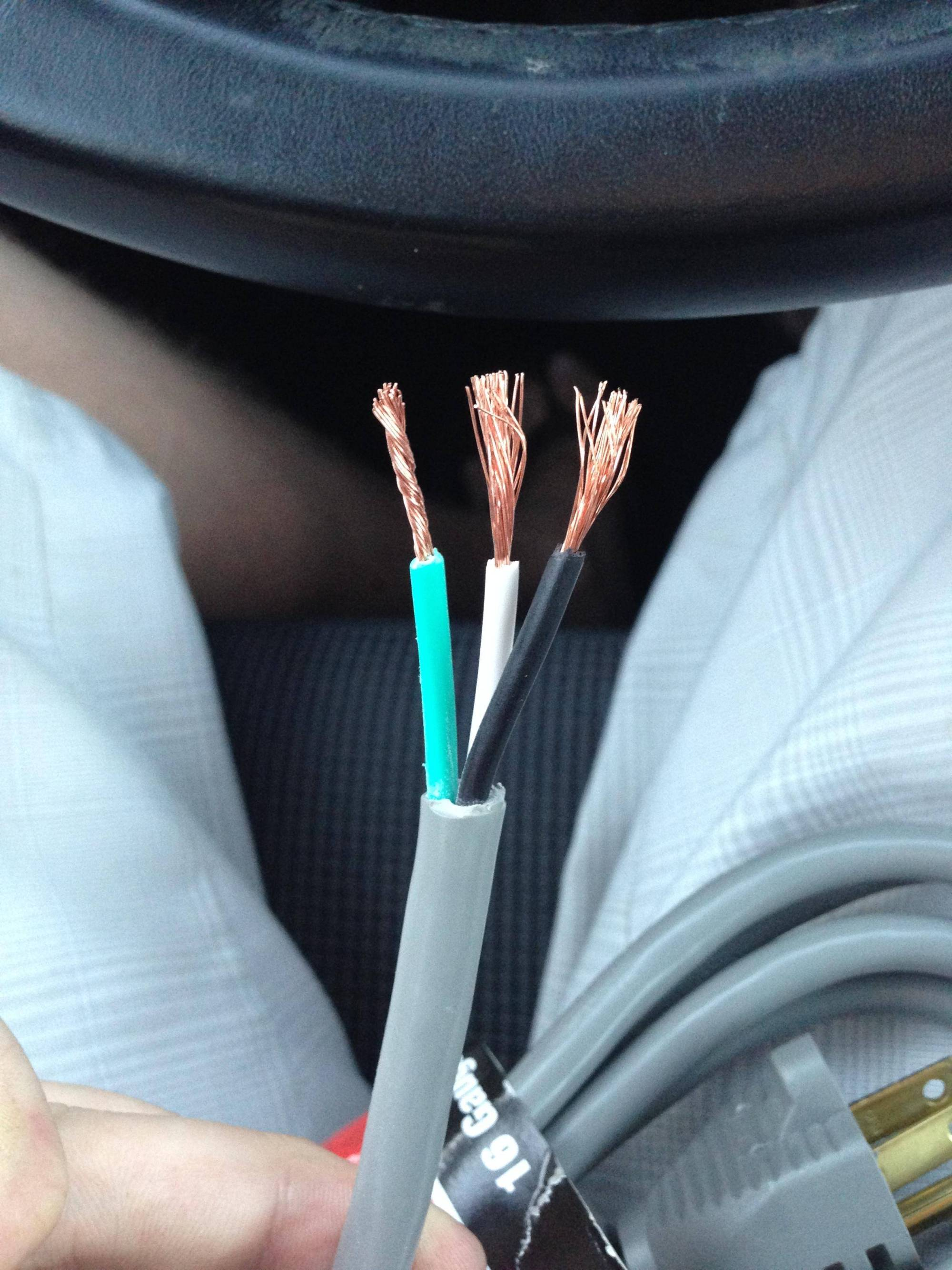 hight resolution of electrical how can i identify the conductors in an appliance cord 110v plug wiring colors enter