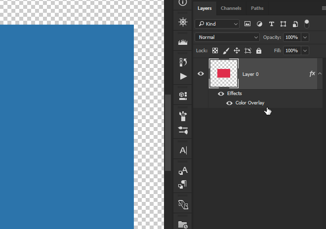 adobe photoshop  How to change rectangle background only