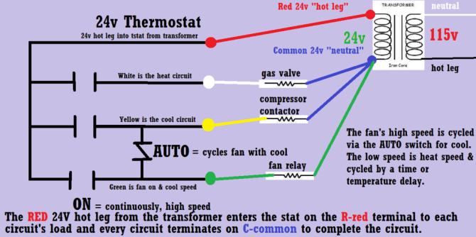 three wire thermostat diagram mack wiring schematics