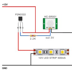 Pir Sensor Wiring Diagram 2005 Ford Taurus Alternator Led Not Triggering P2n2222 Electrical Engineering