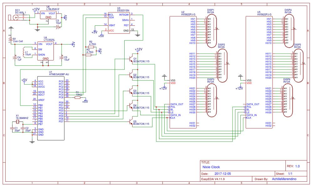 medium resolution of nixie clock schematic wiring diagram val