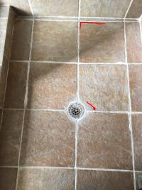 water - How do I fix squishy tiles in shower floor? - Home ...