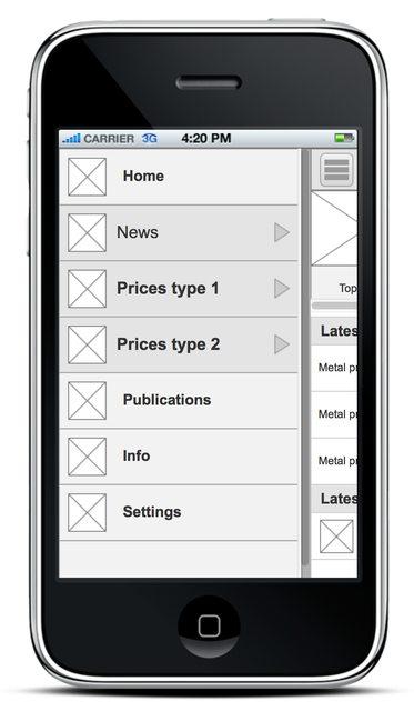 Navigation IPhone App Bottom Menu Vs Hamburger Menu