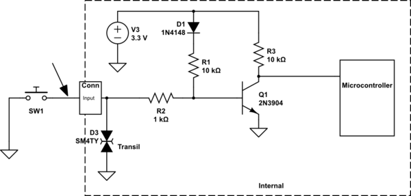Automotive IO input protection design for ESD, transients