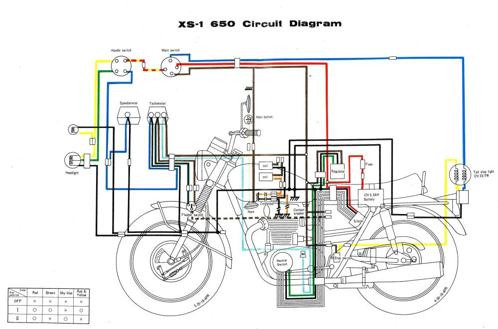 medium resolution of 1978 xs650 wiring diagram schematic wiring diagram third level 1979 wiring yamaha diagram xs750f 1979 yamaha wiring diagram
