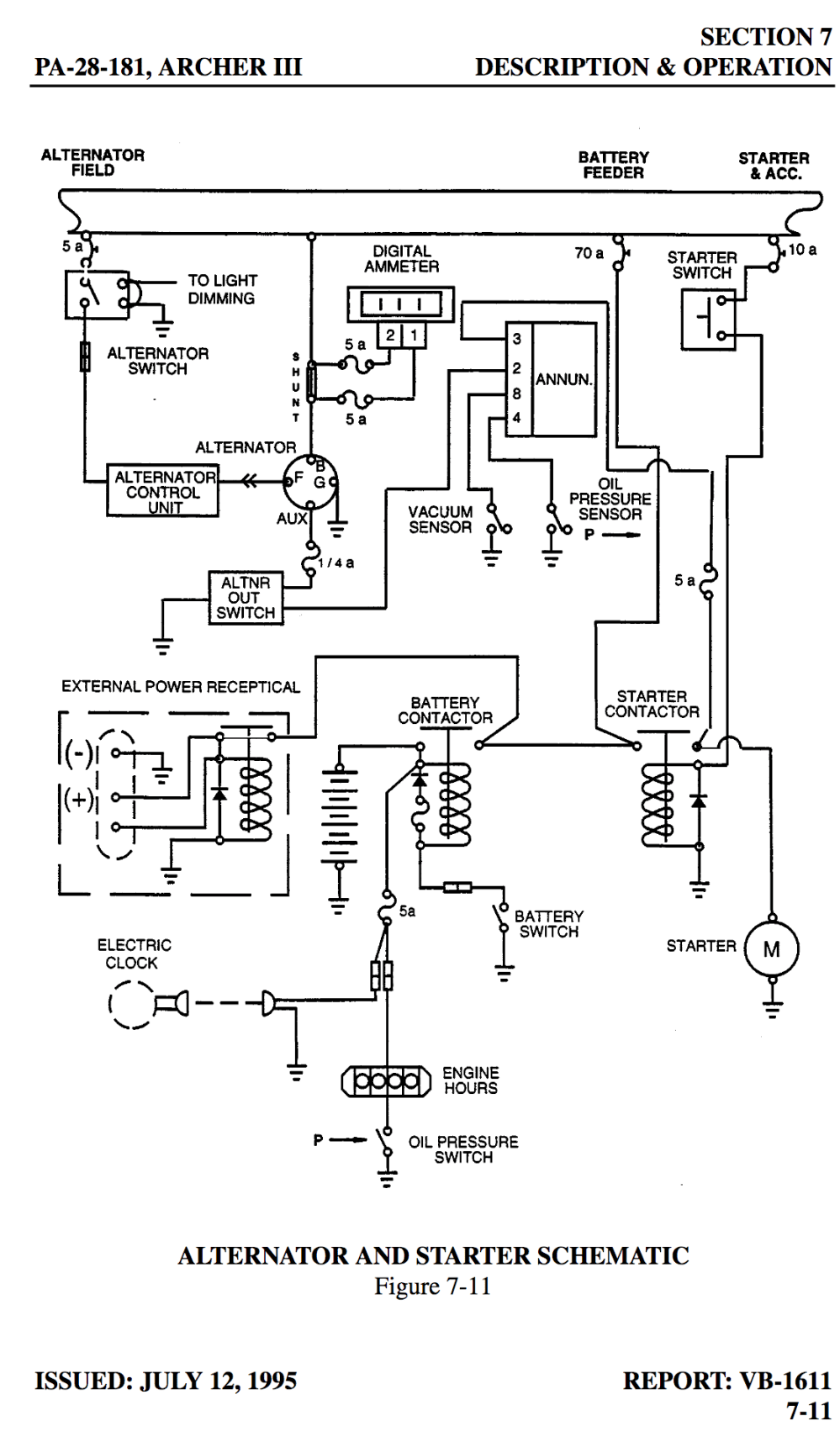 medium resolution of  wiring diagram in the poh archer iii electrical system