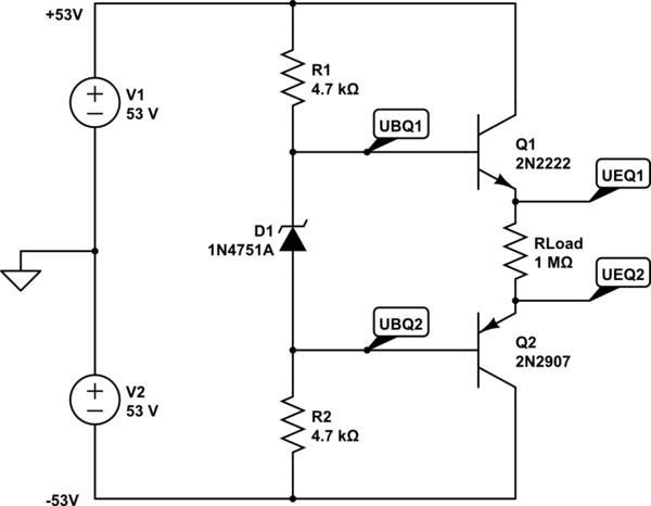 circuitlab zener transistor regulator